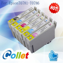 For Stylus Photo R260/R280/R380/RX580/RX595/RX680/Artisan 50 inkjet printer 6 COLORS ink cartridge for Epson T0781-T0786