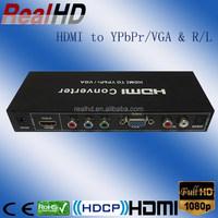 China factory hdmi to VGA rca converter/ hdmi to YPbPr converter box/ ypbpr to hdmi upscaling 1080p