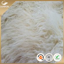 Artificial Curly long hair fake sheep fur fabric