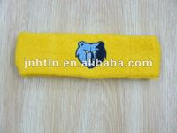 custom logo cotton embroidery headband for promotion