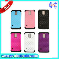 2014 new products full start bing bling diamond shinning combo case for samsung galaxy S5 I9600