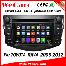 Wecaro Android 4.4.4 car multimedia system double din for toyota rav4 can bus dvd 16GB Flash 2006 - 2012