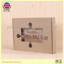 High grade rectangle shaped sliding style scarves paper packaging box