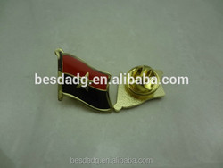 Alloy Badge with National Flag and Epoxy