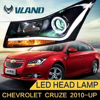 LED lamp type CE Rohs certification Chevrolet cruze daytime running lights angel eyes projector headlight for cruze