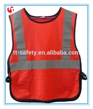 Ce EN471 con el lado elástico ajustable reflectante de seguridad ropa del niño