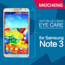super durability electroplate coating anti oil 2.5D round edge tempered glass prevent bluray invisible guard for note3