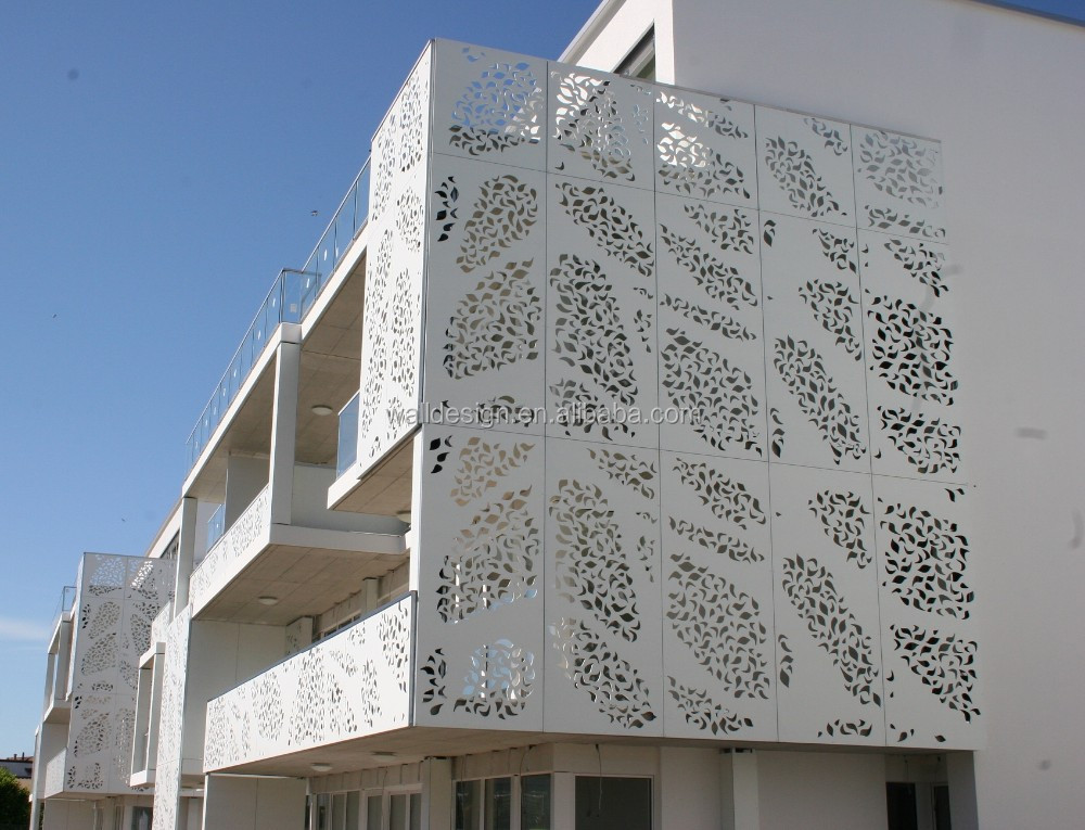 decorative perforated aluminum facade panels. Black Bedroom Furniture Sets. Home Design Ideas