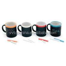 Creative gift set ceramic coffee mugs with color water pen