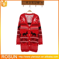 Plus size ugly christmas sweater, knitted patterns aztec cardigan sweater, lighted christmas sweater