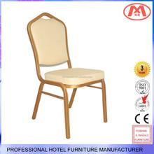 XM-A004 fashionable aluminum frame,Fabric cloth or PU leather cushion banquet chair/ dinner chair;