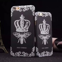 Art 2016 new pattern butterfly & crown pc hard phone case for iphone 6 back cover