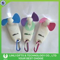 Custom Mini Led Carabiner Fan Handheld Lighting Fan With Logo