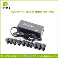 120W ac 15V-24V automatic universal power supply adapter for desktop with 10 tips