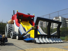hot sale giant tractor inflatable slide/large inflatable slide/big inflatable slide