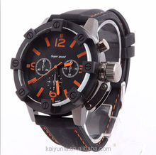 Dual time zone sports men watch silicone V6 watch