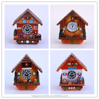 2016 new personalized design different small clocks resin ornaments