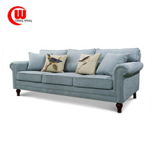 The modern American cotton fabric sofa three person room leisure combination of high-end custom furniture