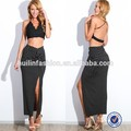 Frente al por mayor de split falda larga, nueva moda de ropa de la parte inferior de méxico, el último diseño de falda