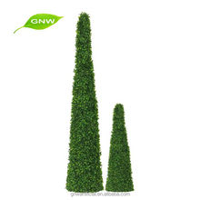 Artificial plant artificial spiral topiary tree with artificial boxwood panel for Home garden patio decoration GNW BOX1024