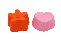 Colorful silicon baking cake mould for baking