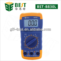 BST-DT-830D digital multimeter manual with test leads