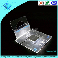 Supply clear LED computer display rack ,Arcylic LED laptop display stand