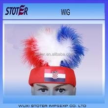 promotional European cup 2016 PET Croatia soccer fan Wig