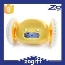 ZOGIFT 2015 New Design Funny Digital Wheel Running Alarm Clock Creative Rolling Alarm Clock