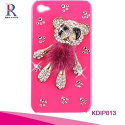 Lovely Little Bear rhinestone crystal Hard Case Cover