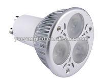 Warm white 2700k 420lm 3X2W GU10 led spotlight CE ROHS