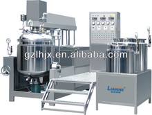 Industrial pneumatic emulsifier , vacuum emulsifying homogeneous machine with agitator , machine for liquid soap making