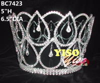 large crystal dangling pageant full crown