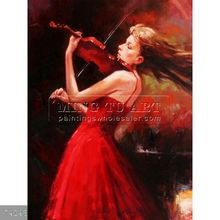 Handmade music oil painting on canvas, Passion, I