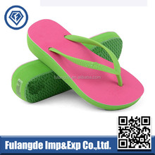 new design high heel classic pvc girl outdoor flip flops,non-slip tpr women flip flops