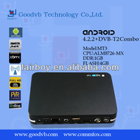 OEM/ODM DVB-T2/DVB-S2 Amlogic 8726 MX android 4.2 dual core tv box youtube skype media player hd xbmc wifi