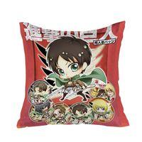 New Attack on Titan Shingeki no Kyojin 40x40cm Square Anime Dakimakura Waifu Throw Pillow Cover GZFONG299