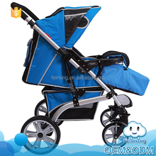 Stylish design aluminum alloy 5 point safety buckle wheel independent brand good baby pram stroller with a big storage basket