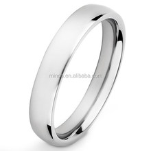 Men's Custom Jewelry Ring Polished Domed Comfort fit Band (4 mm)