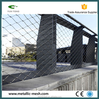 Secure stainless steel decorative rope fence
