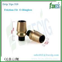 E cigarette new o ringless drip tip friction fit 510 drip tips hot selling