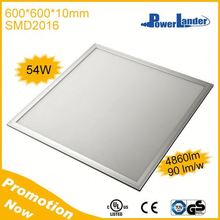 54W 4860lm 600x600mm Led Flat Panel Light with CE UL TUV