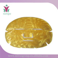 Disposable Non woven 24 k facial gold mask for DIY