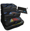 2016 XZH - 4 Set black Packing Cubes - Travel Organizers with Laundry Bag