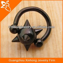 XH10002 black clamp ring ball penis plug jewelry