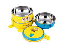 hot china products wholesale stainless steel color baby food container rice lunch box set