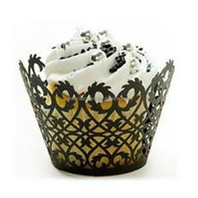 Hollow Out Flower Vine Cupcake Paper Wrappers Wraps Cases Wedding Birthday Party Decorations