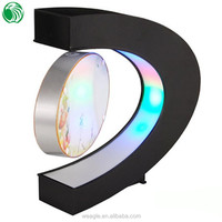 Two sides C shaped magnetic levitation photo frame with LED lights cutebest gift for aggressive men