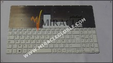 High quality French keyboard for Toshiba C50B notebook Keyboard FR layout white