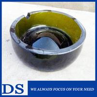2015 new type creative glass ashtray custom green glass ashtray 72mm 120mm